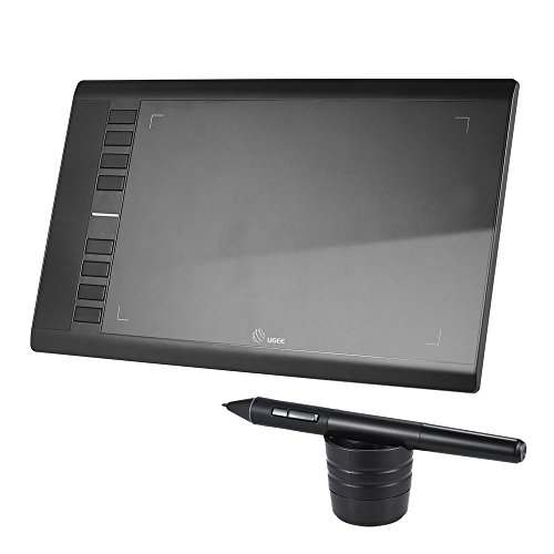drawing tablet 2048 drawing pressure drawing usb Digital Digital Illustration Tabret drawing tablet 5080 LPI 230 RPS Ultra-thin 7.8mm Inclination sensing 10x6 inches drawing tablet 8 express keys support Mac Windows 10/8/7 / vista