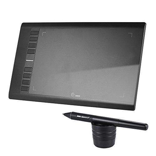 ペンタブレット 2048筆圧 描画usb デジタル デジタルイラストタブ レットペンタブ 5080 LPI 230 RPS 極薄7.8mm 傾き感知 10x6インチ ペンタブ 8つエクスプレスキー support Mac Windows 10/8/7 / vista