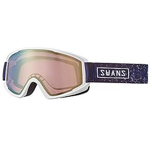 SWANS(スワンズ) スキー スノーボード ミラー ゴーグル くもり止め メガネ対応 大人用 男女兼用 100MDH