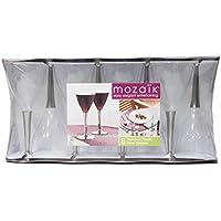 mozaik(モザイク) ワイングラス シルバーステム 8個セット MZGL8SL