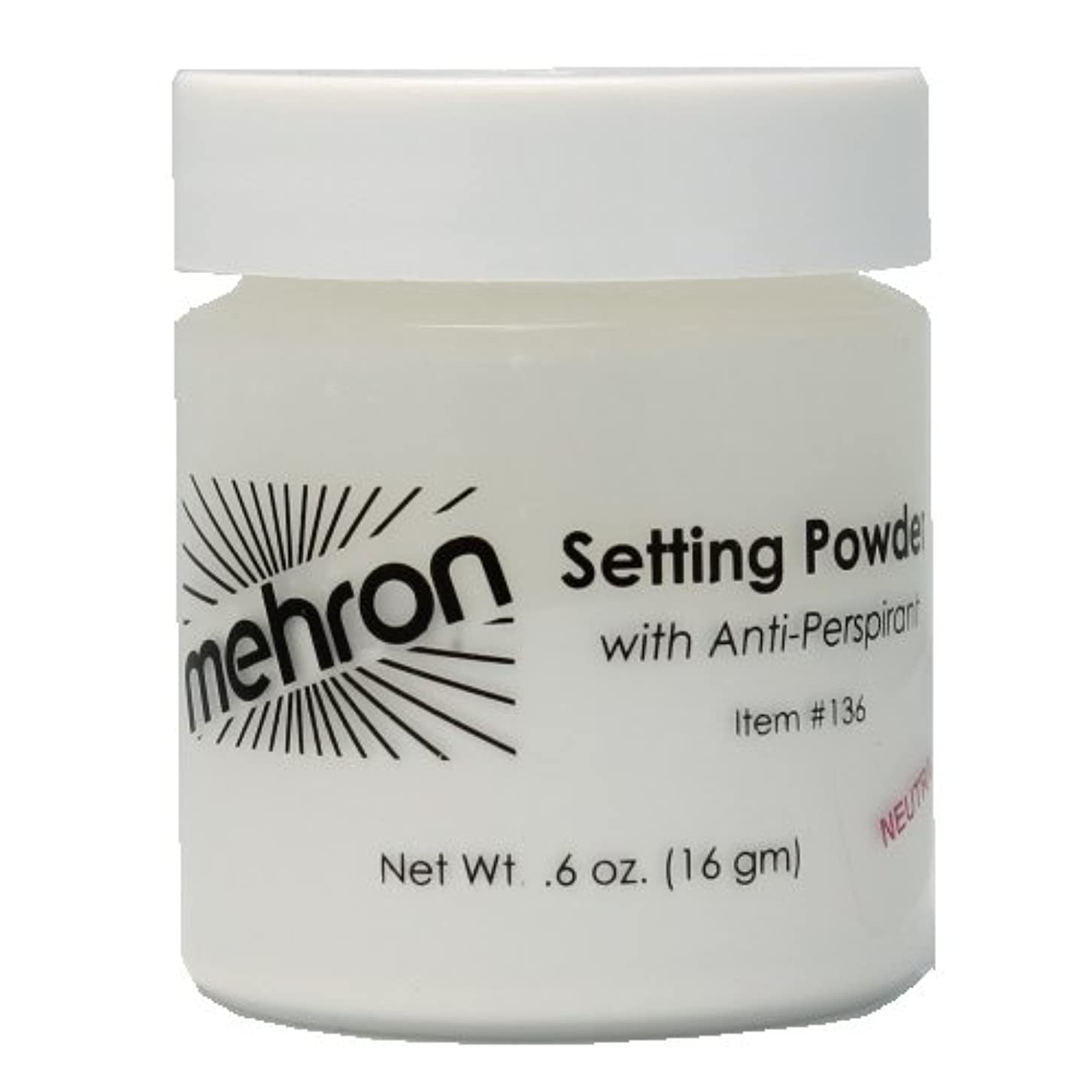 桃線形エミュレーション(6 Pack) mehron UltraFine Setting Powder with Anti-Perspriant - Neutral (並行輸入品)