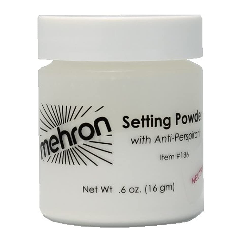 メッセンジャー聴く洗練された(6 Pack) mehron UltraFine Setting Powder with Anti-Perspriant - Neutral (並行輸入品)