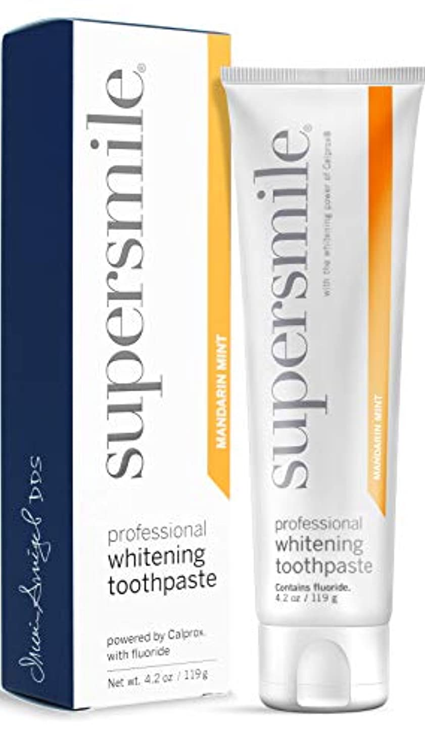 設置ハシー講堂Supersmile - Professional Teeth Whitening Toothpaste Mandarin Mint (4.2 oz.)