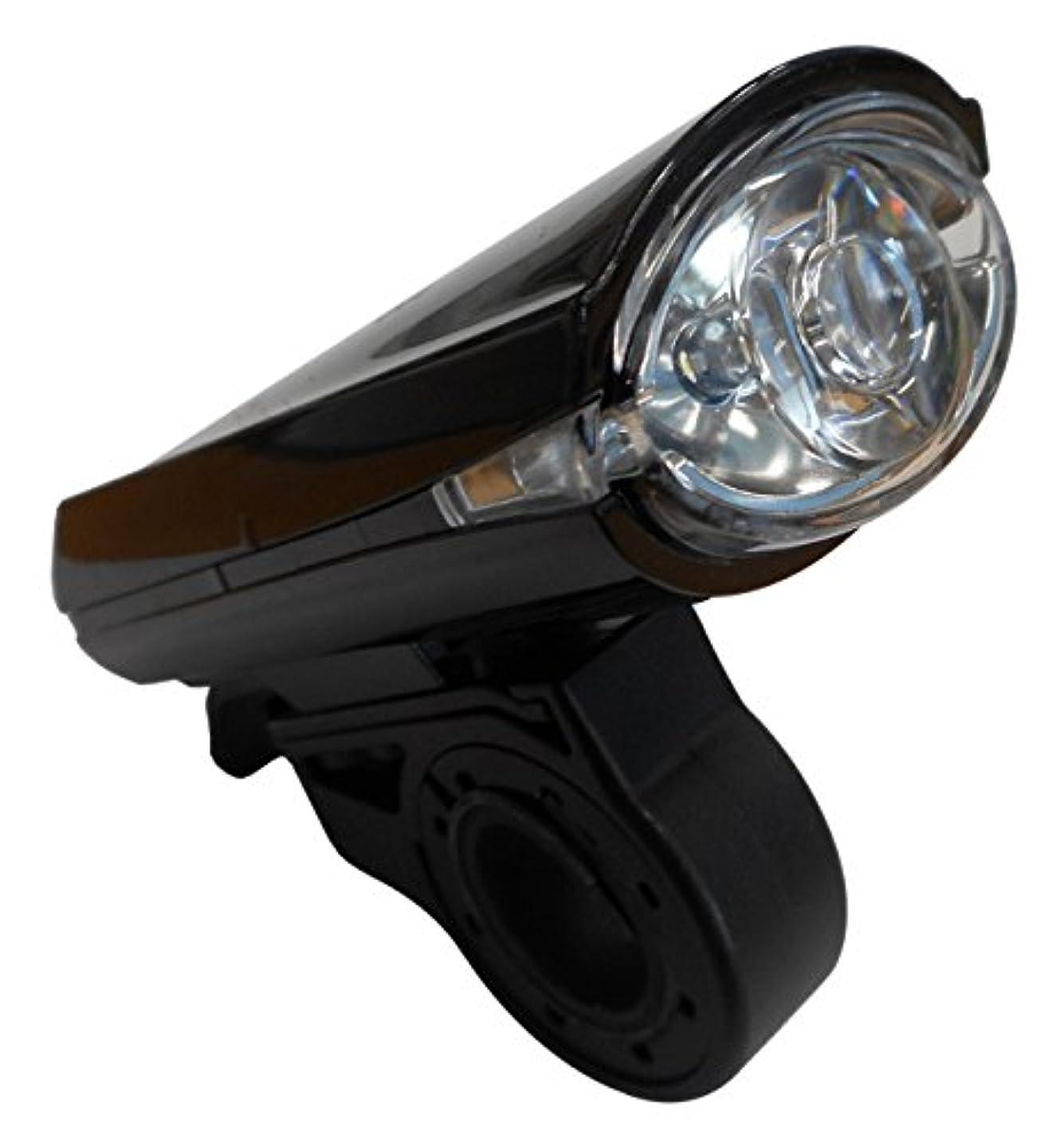 素人豊富舗装する自転車 ライト LEDサイクルライト SKL100 ブラック 44605