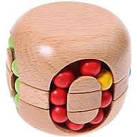 Zhenyu木製Brain Teaser玩具カラフルビーズマジックキューブ教育の応力Reliever子供&大人