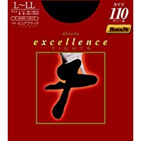 エクセレンス タイツ 110デニール L-LL ピュアブラック