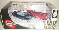 1/64 100% Hot Wheels Lead Sledz II 1953 Cadillac & 1959 Cadillac
