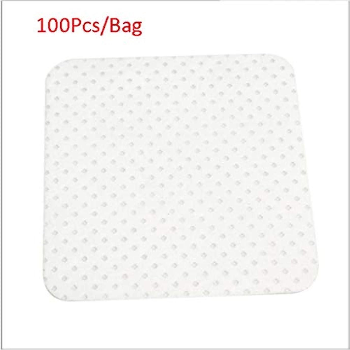 添付レジデンス満足クレンジングシート 100ピース/バッグ使い捨てまつげエクステンションのり取りコットンパッドボトル口拭きパッチメイク化粧品クリーニングツール (Color : White, サイズ : 5*5cm)
