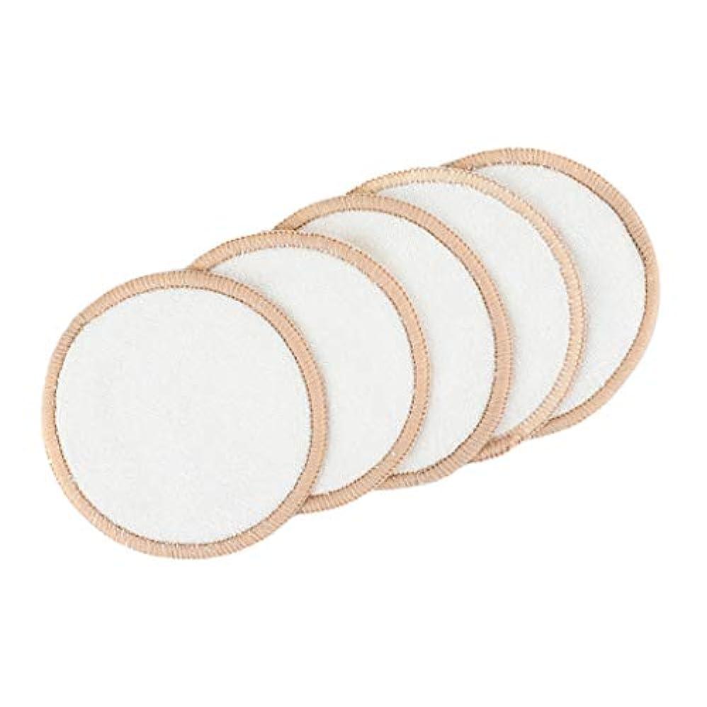 真空推定するアンタゴニストToygogo 全3種 メイク落とし 竹繊維パッド クレンジングシート 化粧リムーバーパッド 直径約8cm 5個入り - ファブリック