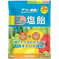 サラヤ 匠の塩飴3種アソート(マスカット味・レモン味・スイカ味) 2kg×4袋