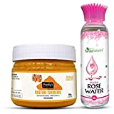 Combo Offer of Kasturi turmeric powder 100gm and Rose water 100ml - Natural skin care, Clear and Glowing Skin...