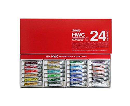 ホルベイン 透明水彩絵具 24色セット W405