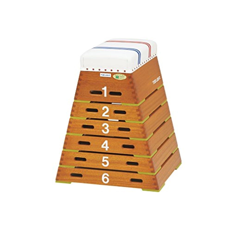 TOEI LIGHT(トーエイライト) 跳び箱ST6段(上部ライン有) 下幅65(上幅30)×奥行60×高さ80cm 6段 上部ライン入帆布 小学校向 T2567 T2567