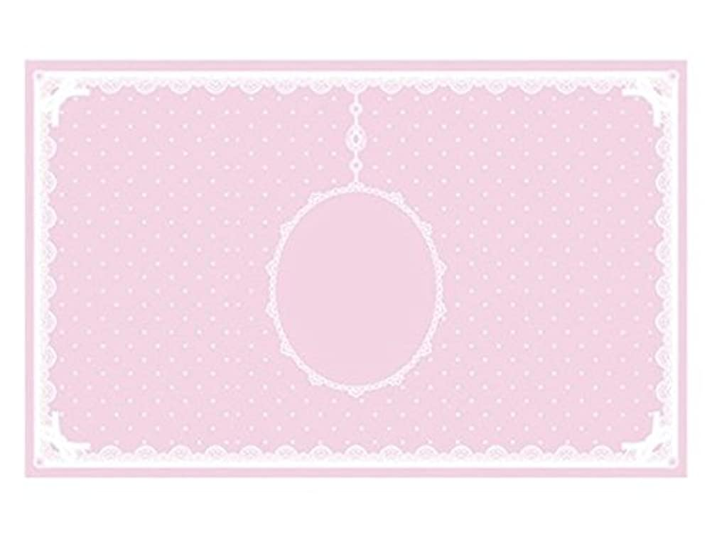 スパイラルバッジ足枷シリコンマット(表面コート)ピンク