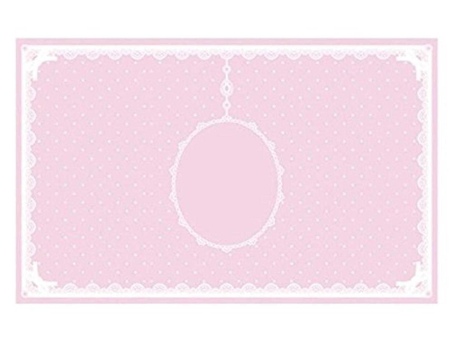 スペード肺楽観シリコンマット(表面コート)ピンク