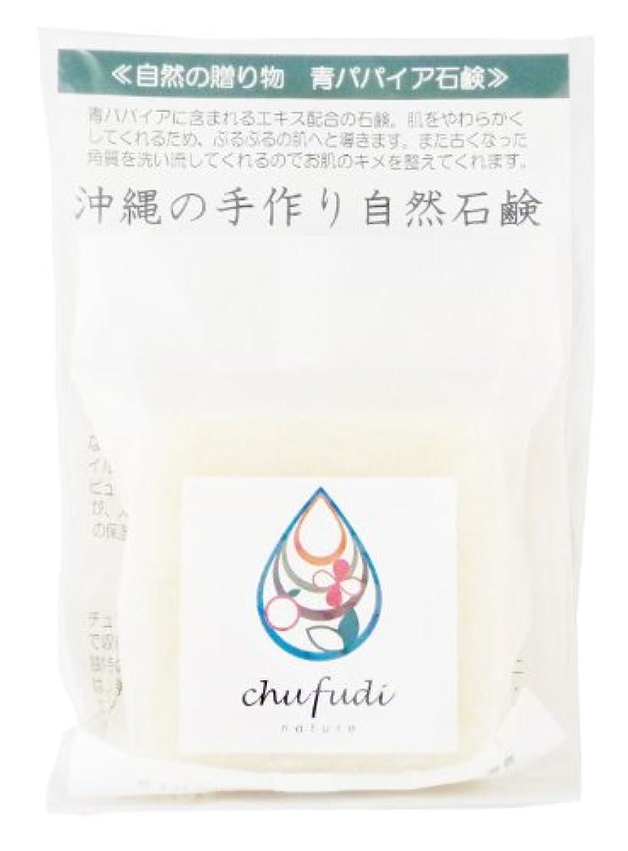 実装する連帯新しさチュフディ ナチュール 自然からの贈り物 青パパイヤ洗顔石鹸