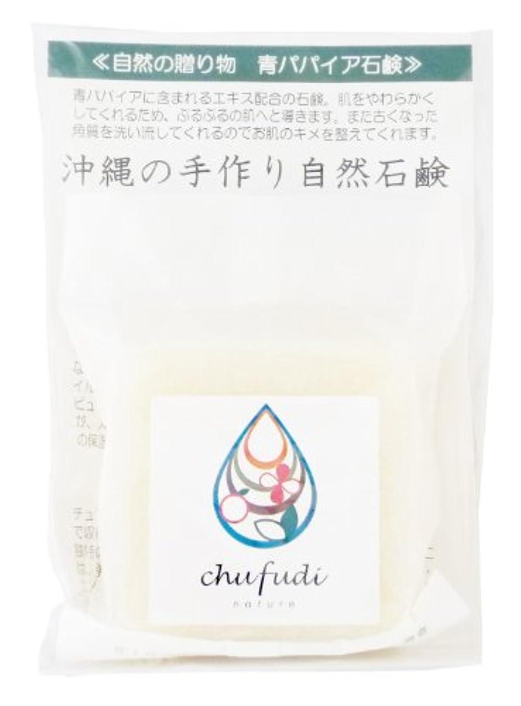 大脳火傷出席するチュフディ ナチュール 自然からの贈り物 青パパイヤ洗顔石鹸