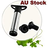 Wine Saver Pump Wine Pump, Wine Vacuum Pump and Stopper, Wine Pump Vacuum Stoppers,Wine Essentials Gift Pack Wine Preserving Pump W/2 Stoppers-Black