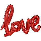 Skyllc 赤いウェディングの飾りミディアムサイアーズLOVEバルーンバレンタインデー結婚提案セットアルミホイルバルーン