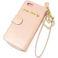 [サンリオ]SANRIO iPhone6ケース ハローキティ Hello kitty iPhone6カバー 手帳型 本革 エナメル モノグラム ポーチ付き HKL4-14 レディース ピンク