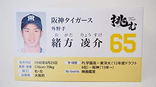 緒方 凌介カード阪神タイガース選手名刺カードプリントサイン入り