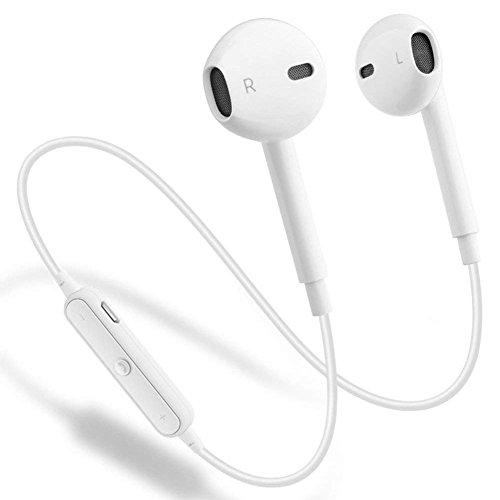 b88cd2334c Bluetooth イヤホン 高音質ブルートゥース イヤホン Bluetooth4.1 ワイヤレス イヤホソ iPhone Android対応 イヤホン-ホワイト  : Amazon・楽天・ヤフー等の通販価格 ...