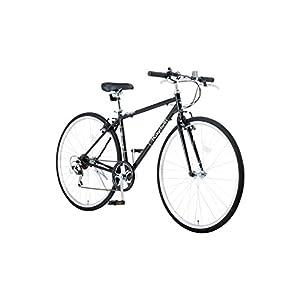 Raychell(レイチェル) 700Cクロスバイク シマノ7段変速 フロントライト標準装備 CR-7007R [メーカー保証1年] ブラック 35652
