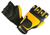 ジム手袋with手首Closure for Men & Women、パッド入りワークアウトクロスフィット、ウェイトリフティングブラック、イエロープレミアム品質