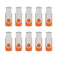 10pcs USB 2.0フラッシュドライブメモリスティックFoldストレージ新しいデザインEasy to Carry 8GB
