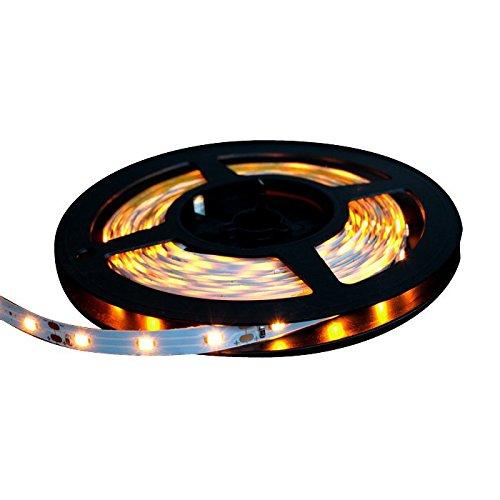 【1本入り】 両端子 5M 12V 非防水 1チップ 薄型 LEDテープライト (黄色/白ベース)