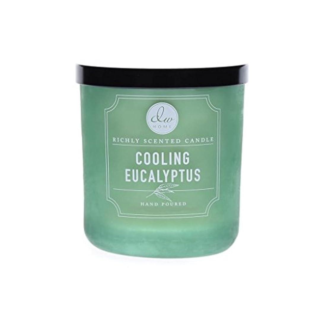 プレゼンター始まり想像するDWホーム冷却ユーカリ豊かな香りCandle Small Single Wick Hand Poure。。。