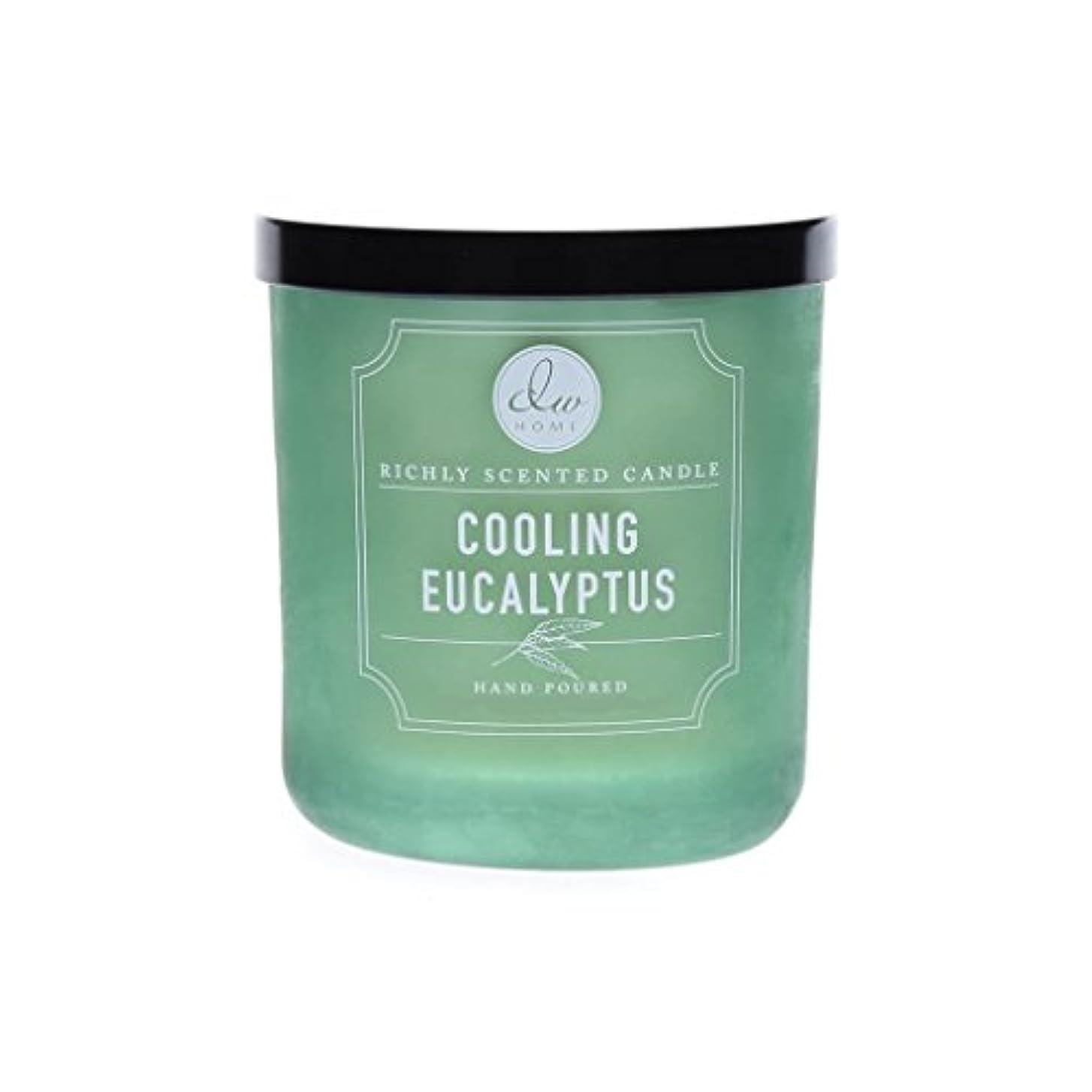 糞特別に受粉者DWホーム冷却ユーカリ豊かな香りCandle Small Single Wick Hand Poure。。。