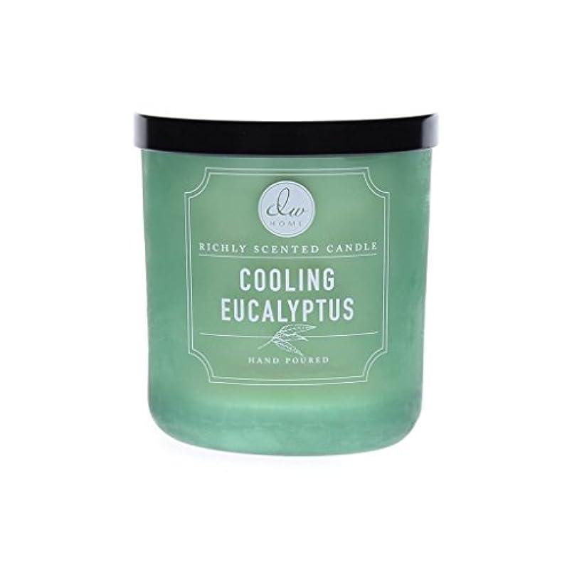 サーバント説教野望DWホーム冷却ユーカリ豊かな香りCandle Small Single Wick Hand Poure。。。