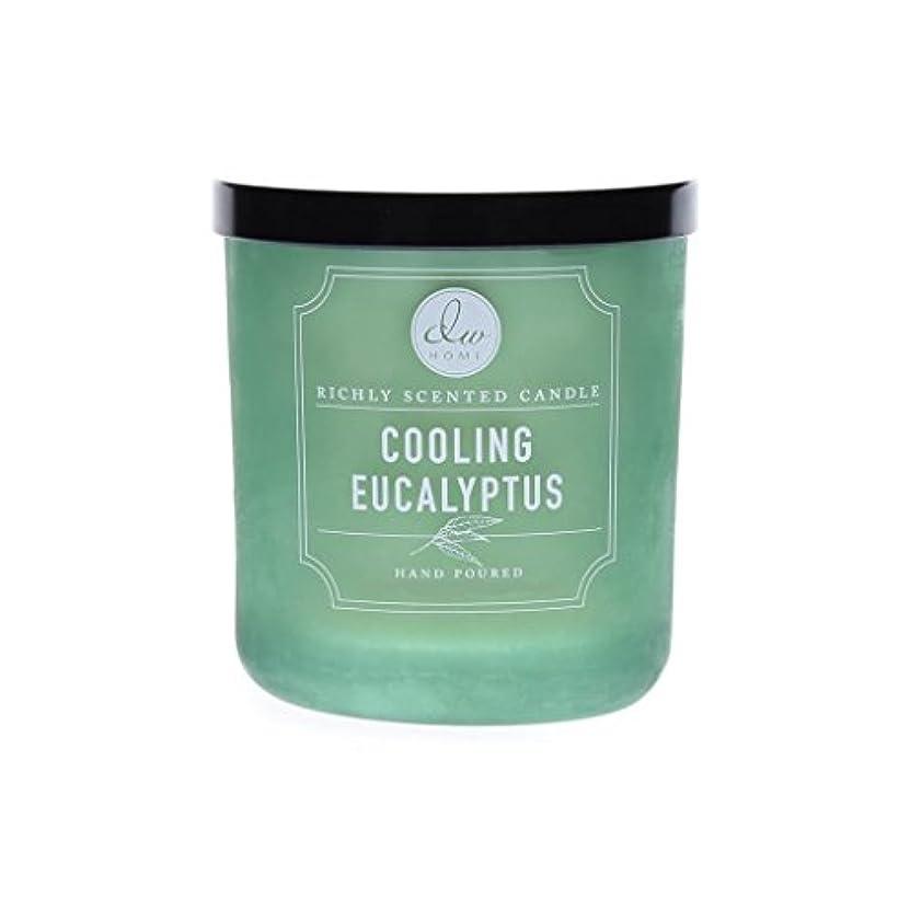 失態懲らしめ変わるDWホーム冷却ユーカリ豊かな香りCandle Small Single Wick Hand Poure。。。