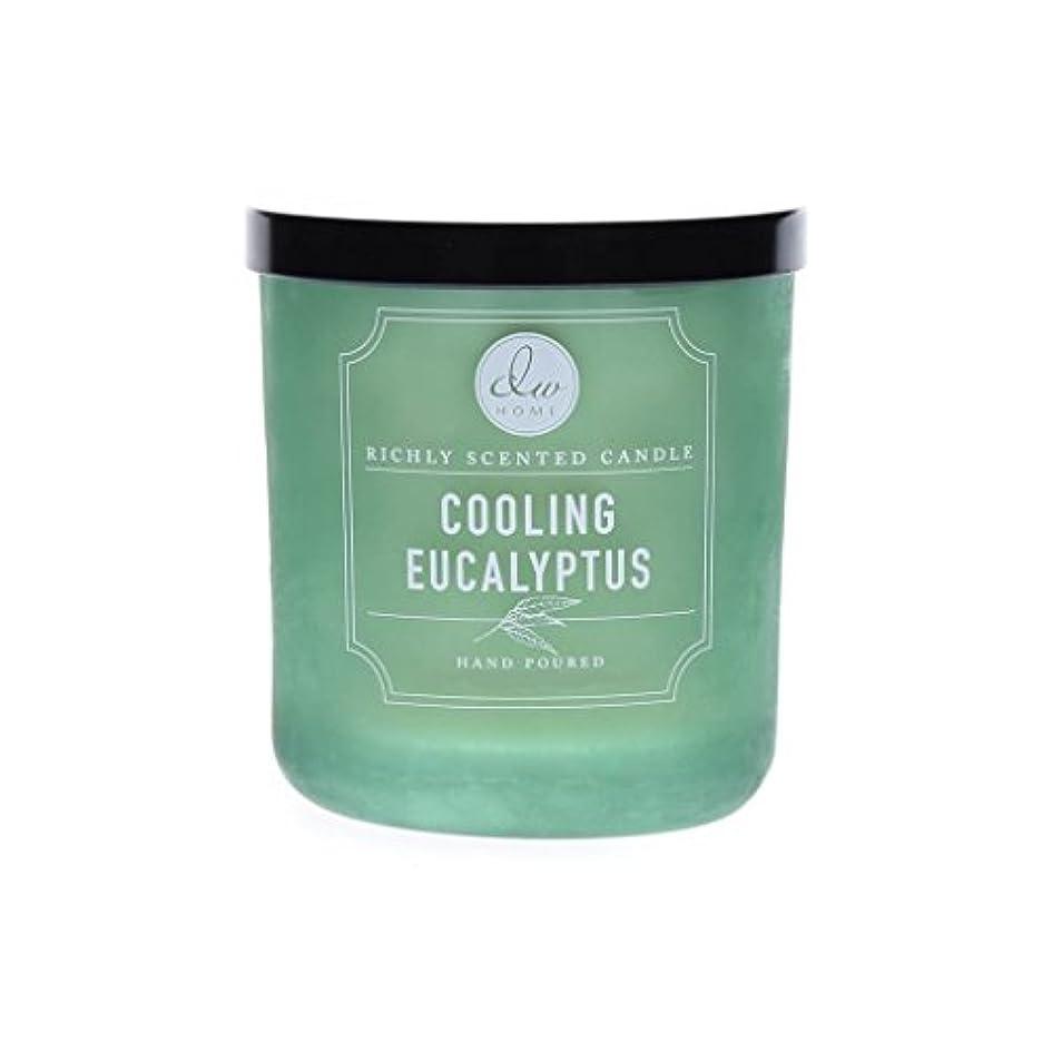 詩邪悪なきらめきDWホーム冷却ユーカリ豊かな香りCandle Small Single Wick Hand Poure。。。