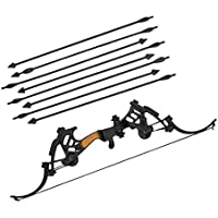 【ノーブランド 品】1/6スケール 弓 8本矢印付き 兵士 武器 モデル おもちゃ アクションフィギュア アクセサリー