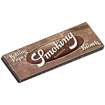 smoking スモーキング シングル ブラウン ペーパー 60枚入り×5 手巻きタバコ 巻紙