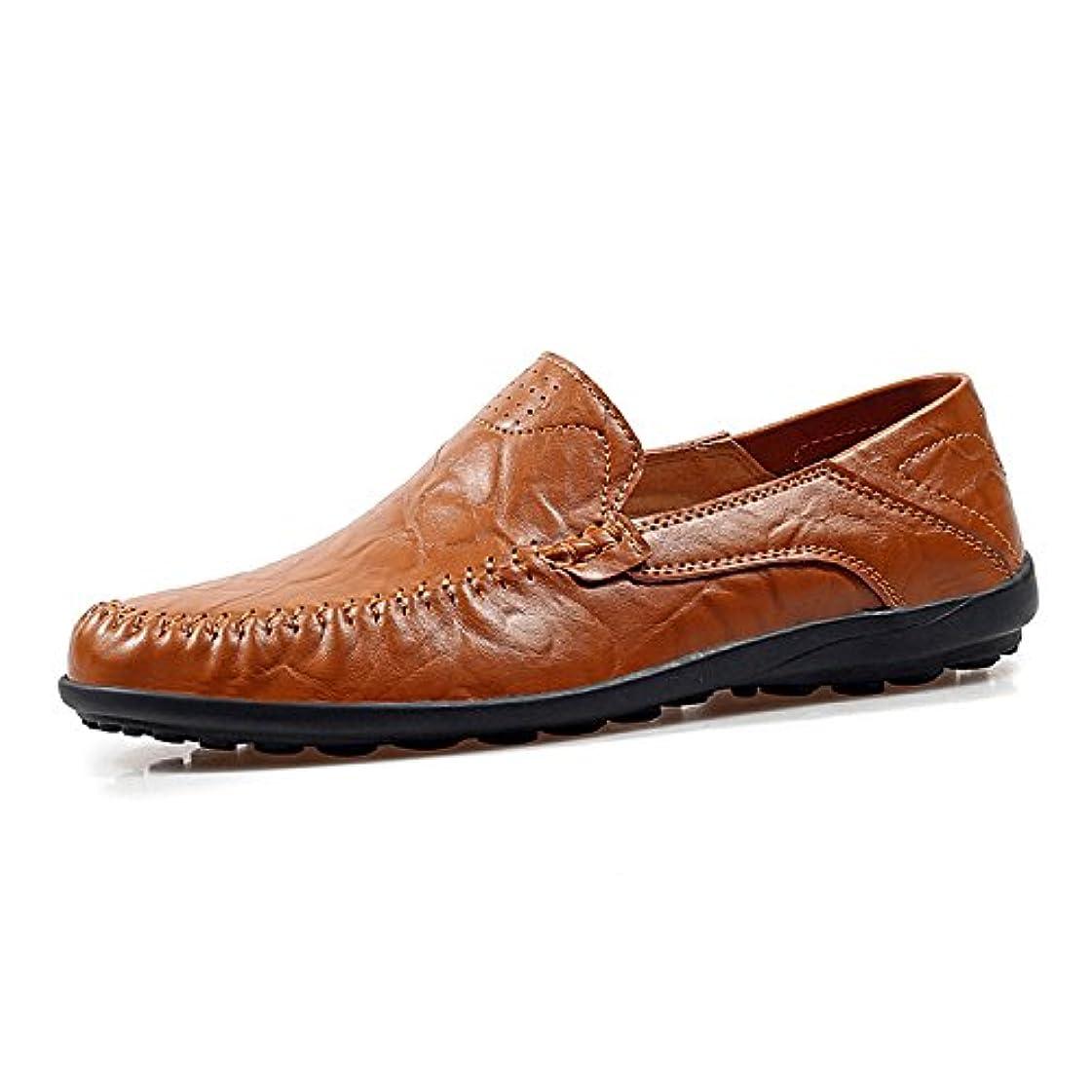 評価五米ドルWOWEI ビジネスシューズ ピーズの靴 モカカジュアルシューズ スリッポン ローファー 大きいサイズ 牛革 紳士靴 防滑 軽量 通勤 革靴 カジュアル モカシン デッキシューズ モカシン靴 メンズ ドライビングシューズ