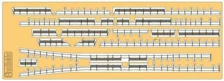 1/350 特型駆逐艦用手すりセット 敷波&綾波 純正オプションパーツ