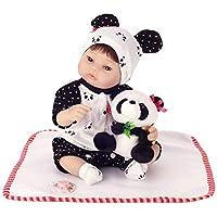 Manyao 40センチメートルシリコーン生きた赤ちゃん人形パンダ服帽子幼児子供かわいいおもちゃ