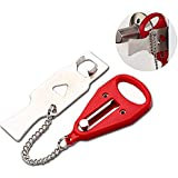 Portable Door Lock, Extra Locks Security Device for Additional Safety and Privacy,Perfect for Traveling, AirBNB, Hotel, Home,