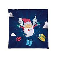 L&Sプリント大暖かいソファフリース投げメリークリスマスフライングサンタデザインソフトベッドブランケットチェア、マルチ