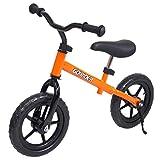 自転車 子供用 ゴーライダー ペダルなし自転車 幼児 ランニングバイク スタンド付 プレゼント お誕生日 橙