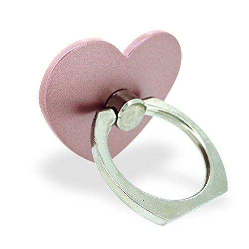 ホワイトナッツ スマホリング ハート ローズゴールド バンカーリング 落下防止 スタンド おしゃれ かわいい オシャレ 指輪 デザイン 可愛い シンプル グリップ wn-0814485-wy