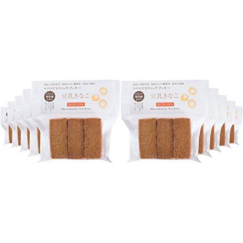 ビオクラ マクロビオティッククッキー豆乳きなこ 9枚×10個