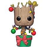 FUNKO POP! Marvel: Holiday - Groot w/ Lights & Ornaments