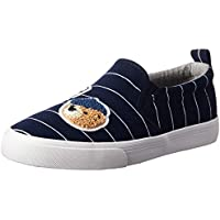 POLO RALPH LAUREN Kids Girls' Carlee Twin Gore Sneaker, Navy/White Stripe, M015 M US Little Kid