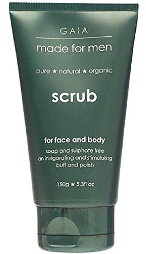 耐久ピアニスト畝間【GAIA】Face & Body Scrub made for men ガイア メンズ フェイス&ボディスクラブ 150g 3個セット