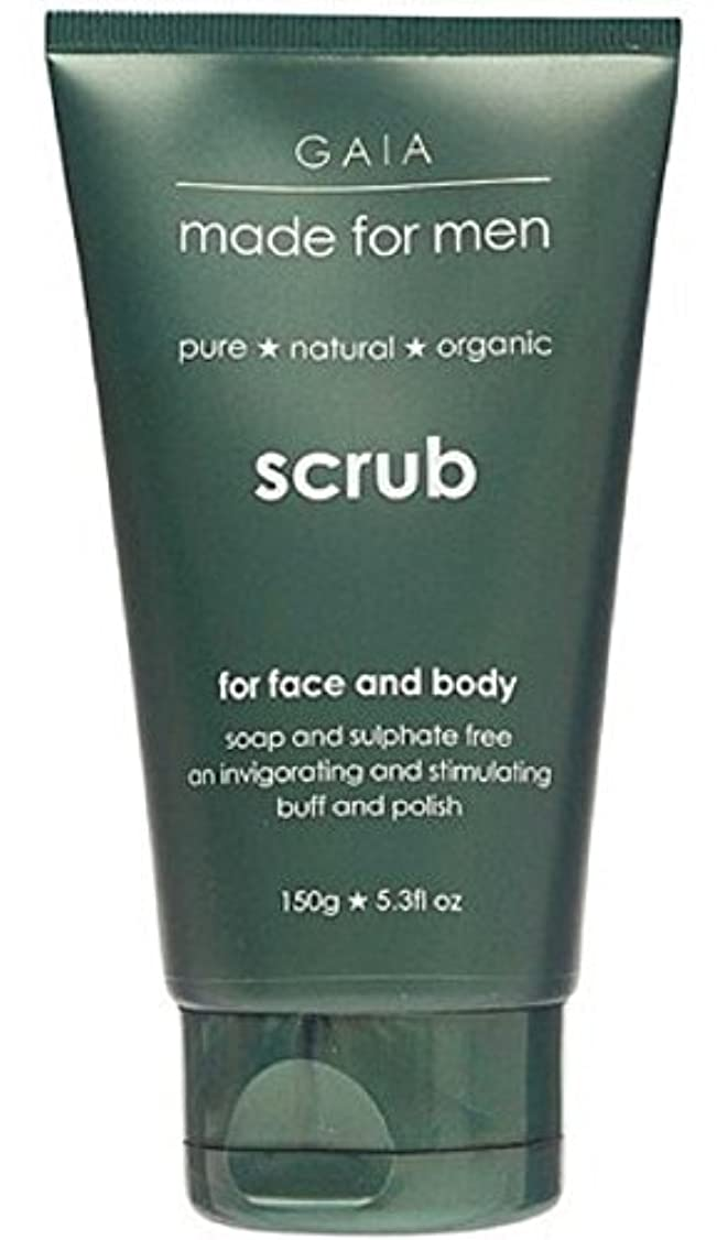買うスーダン傷つける【GAIA】Face & Body Scrub made for men ガイア メンズ フェイス&ボディスクラブ 150g