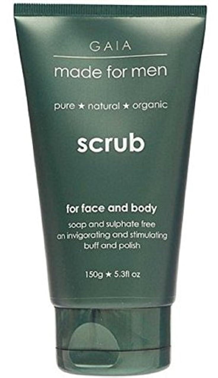 抑制出発する熱心な【GAIA】Face & Body Scrub made for men ガイア メンズ フェイス&ボディスクラブ 150g 3個セット
